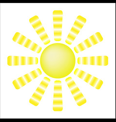 sun with yellow rays vector image