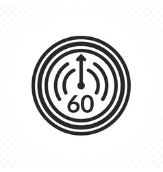 symbol of sixty minutes or one hour vector image