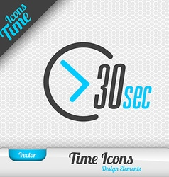 Time Icon 30 Seconds Symbol Design Elements vector image