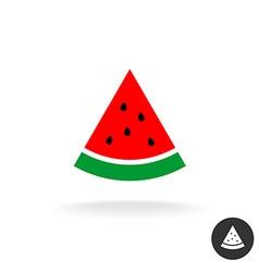Watermelon slice flat style color icon symbol vector image