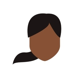 Woman with pony tail vector