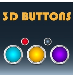 Colorful set of buttons vector image vector image