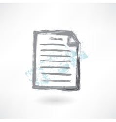 Document grunge icon vector image vector image