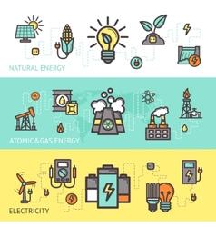 Energy Banner Set vector image