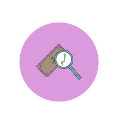 In flat design of magnifier vector