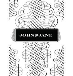 Classic Victorian fancy elements vector image