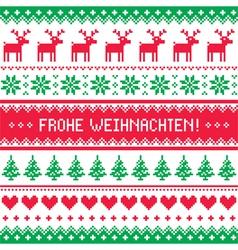 Frohe weihnachten card - christmas pattern vector