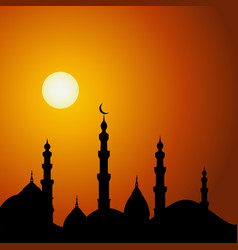 mosque silhouette vector image