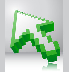 arrow icon 3d vector image