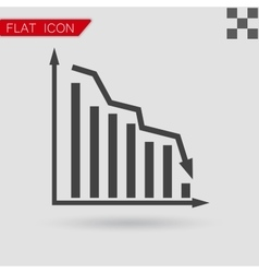 Graph Icon UI Flat Style vector image