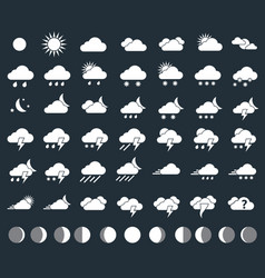 weather icons closeup vector image