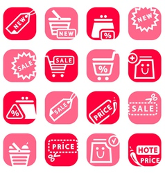 color online shopping icons vector image vector image