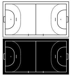 Handball court vector image vector image