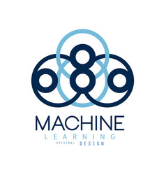 symbol of machine learning computers and vector image
