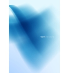 Abstract blue wavy background vector image