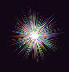 abstract multicolored explosion background vector image