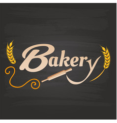 bakery rolling pin malt background image vector image