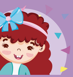 Beautiful girl cartoon vector