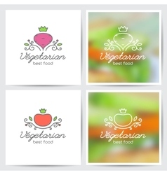 beet and tomato vector image
