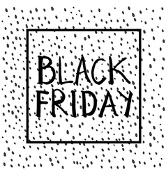 Black Friday lettering sqare vector image