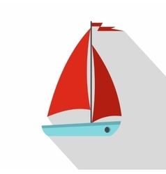 Boat icon flat style vector