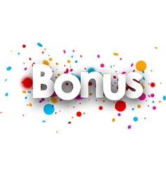 Bonus paper banner vector image