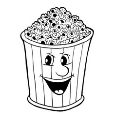 Bucket of popcorn vector