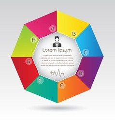 Business Octagon Diagram Infographic Presentation vector image
