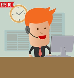 Cartoon business man receive the call - - EP vector image
