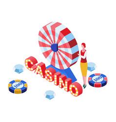 casino game croupier isometric vector image