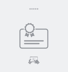 Certified document - minimal icon vector