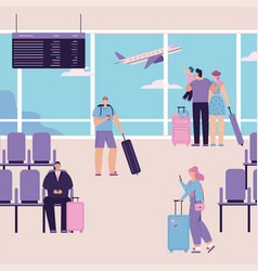 Character people at airport vector
