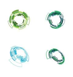 circle techno icon design vector image