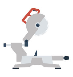circular end saw icon vector image