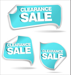 clearance blue sale labels vector image