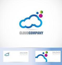 Cloud colors logo design vector