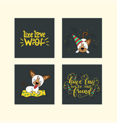 collection of with cute dogs and vector image