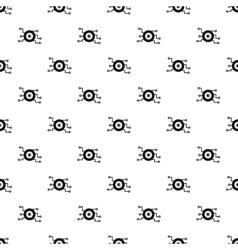 Cyber eye pattern simple style vector