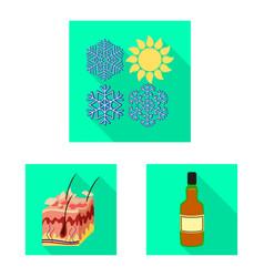 Design dermatology and disease logo set vector