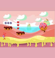 Design for background fantasy game vector
