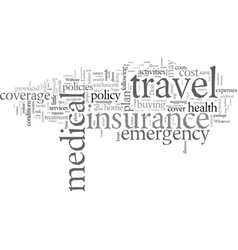 Don t be excluded know what your travel insurance vector