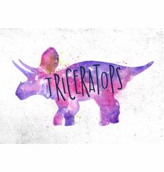 dynosaur triceratops vivid vector image