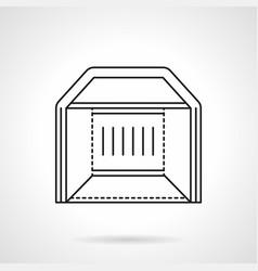 Exhibition tent flat line icon vector