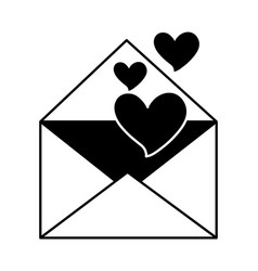 fallings hearts in envelope message love romantic vector image