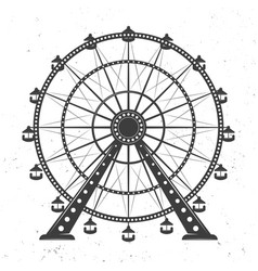 Ferris wheel monochrome vector