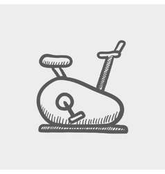 Fitness cycling sketch icon vector