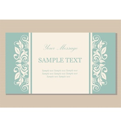 Floral vintage business card vector