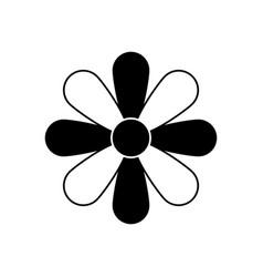 Flower ornament symbol vector