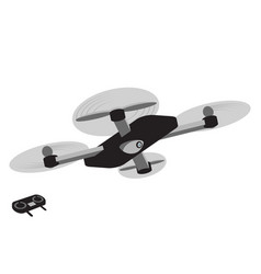 flying drone with a camera in flat style vector image