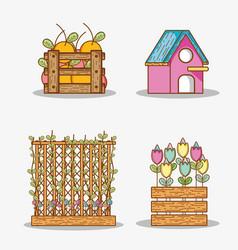 garden party cartoons vector image